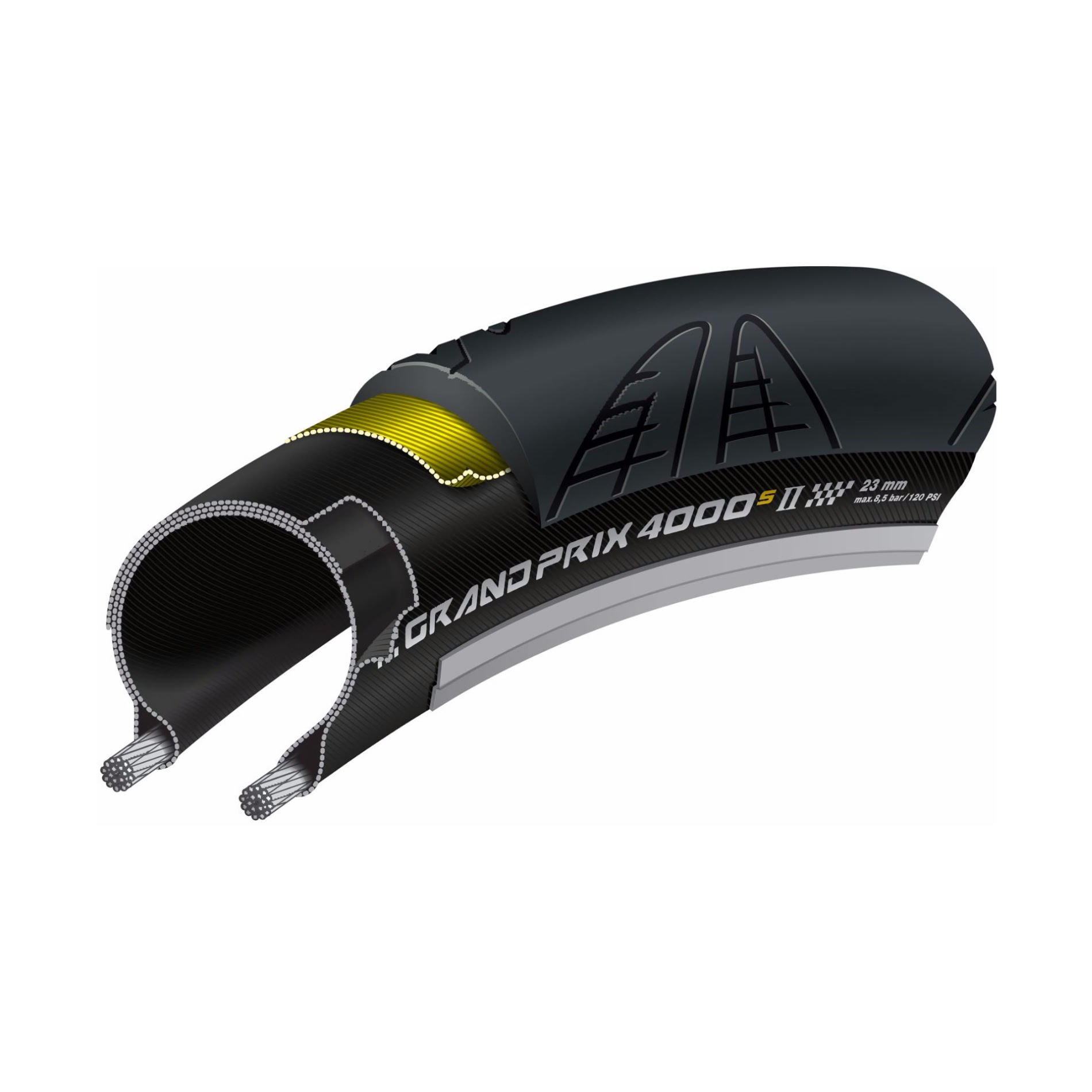 Continental Grand Prix 4000S II 25mm Butyl 2014